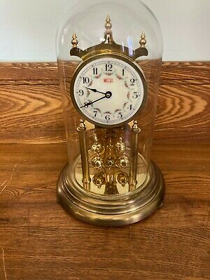 £58.08 • Buy Vintage WELBY Anniversary Glass Dome Torsion  CLOCK  W. Germany