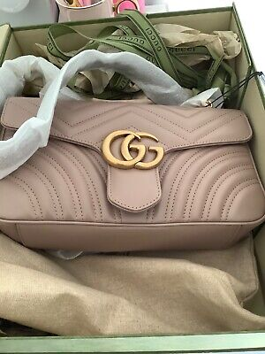 AU1900 • Buy Gucci Marmont Dusty Pink Shoulder Bag Brand New