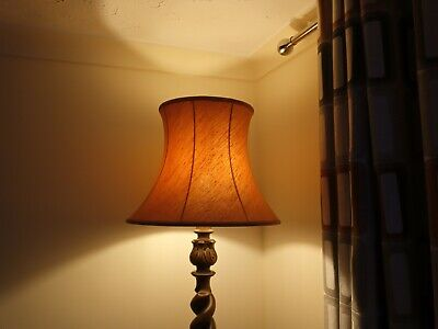 £19.57 • Buy Large Lined Terracotta Textured Material Vintage Lampshade For Floor/Table Lamp