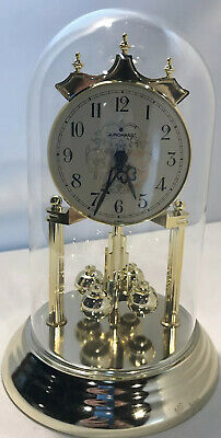 £14.49 • Buy Vintage JUNGHANS GOLD GLASS DOME Mantle CLOCK MADE IN GERMANY Quartz