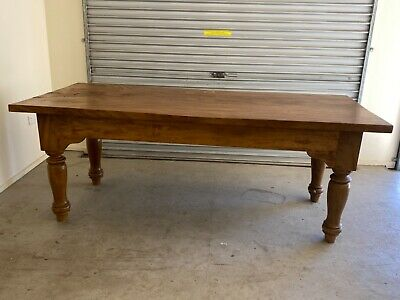 AU150 • Buy Large Wooden Balinese Style Dining Table And 6 Chairs