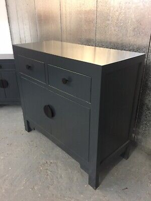£75 • Buy John Lewis Qing Oriental Chinese Grey Lacquered Chest Cabinet Sideboard  M4220E