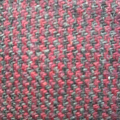 £2.49 • Buy Gorgeous Wool Blend Fabric Remnant 2 Pieces In This Listing In Red/grey