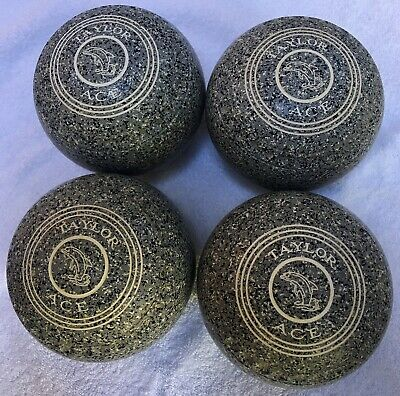 £90 • Buy Taylor Ace Size 5 WB20 Scarce Speckled Grey Granite Colour Set Of 4 Lawn Bowls