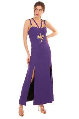 AU43.84 • Buy RRP €2850 FAUSTO PUGLISI Maxi A-Line Dress Size 44 / M Rhinestones Made In Italy