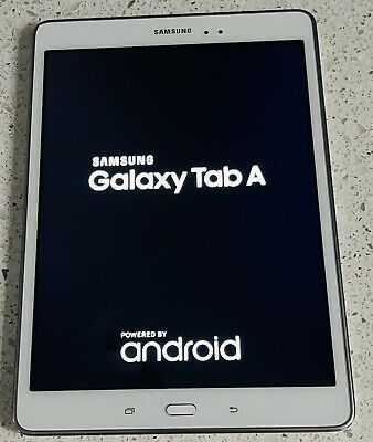 """AU200 • Buy Samsung Galaxy Tab A SM-T550 - 9.7"""" White 16GB Wi-Fi Tablet With USB Cable Only"""