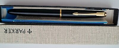 £10 • Buy Vintage Parker Black Fountain Pen With 14k Gold Nib And In Original Box