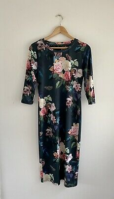 £7 • Buy Topshop Floral Midi Dress Size 12 In Vgc