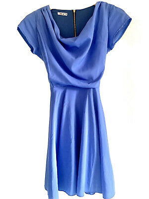 £4.99 • Buy Purple Blue Wal G From Topshop Cowl Neck Tie Back Dress - Xs 6
