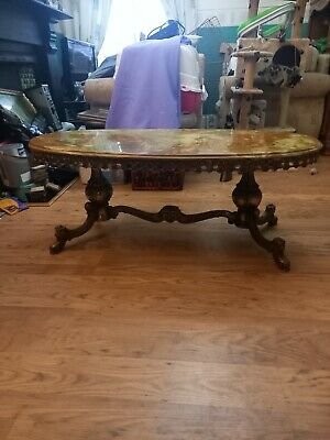 £150 • Buy Coffee Table Marble Top With Brass .gilt Effect. Mid Century. Vintage.