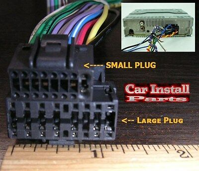 16pin jvc aftermarket car stereo radio wire harness lrg • 5 99$