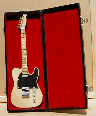 $ CDN25.81 • Buy Electric Guitar Replica Handmade Collectible Miniature 9.5  With Stand & Case