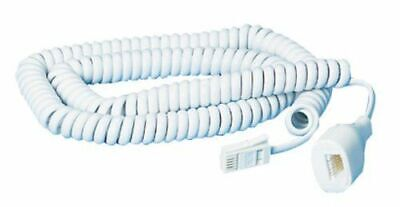 £3.99 • Buy Telephone Extension Lead Cable Cord - 5 Meter 5M - Fax Or Phone Lines Curly