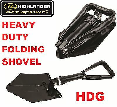 Highlander Tri Folding Shovel Entrenchment Tool Army Spade Camp Survival Bivi • 10.89£