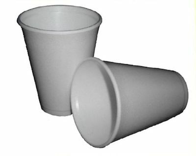 Polystyrene 7oz Insulated Foam Cups Disposable X 100 • 9.50£