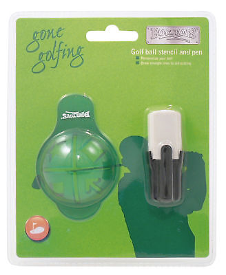 £3.99 • Buy Boyztoys Golf Ball Stencil And Pen / Marker - Draw Straight Lines To Aid Putting