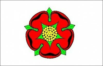 LANCASHIRE FLAG Red Rose Old Style LANCASTER BOLTON 5X3 • 4.85£