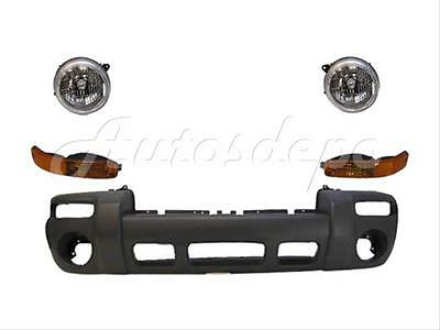 $158.86 • Buy For 02-04 Jeep Liberty F Bumper Txt Headlight Park Light 5p