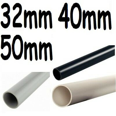 90cm Solvent Weld Glue Cement Waste Water Plumb Pipe 32/40/50mm White,black,grey • 4.39£