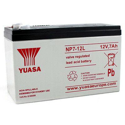 NP7-12L Yuasa Valve Regulated Lead-Acid Battery With 6.3mm Connection • 18.99£