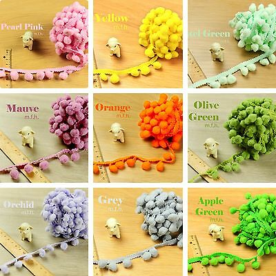 2m Of EASTER SPRING Festival Bobble Trim Pom Pom Fringe Braid PASTEL Multicolour • 1.99£