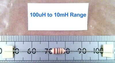 Qty 5: Ferrite Cored High Q RF Coil / Inductor, Inductance Range 100uH To 10mH • 3.96£