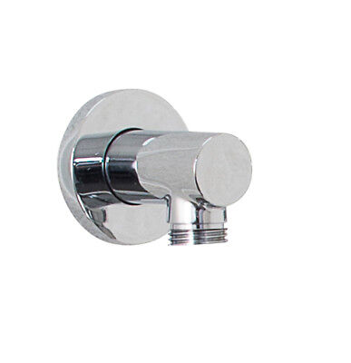 £18.95 • Buy Pura KI120 Chrome Round Shower Connector Hose Wall Outlet Elbow ACC6039