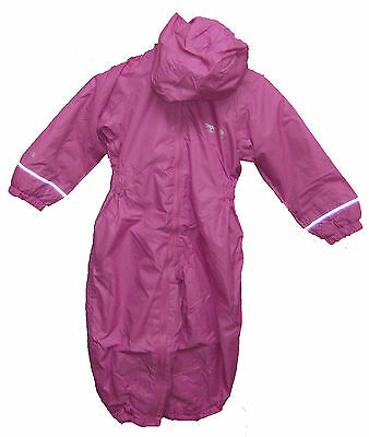 Girl's Regatta Splosh All In One Padded 'Lipstick' Pink Waterproof Suit. • 19.99£