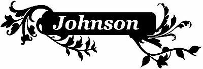£12.36 • Buy Huge Floral Custom Family Name Sign 2 Wall Sticker Decal Customized Many Colors