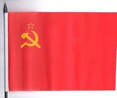 USSR Soviet Union Russia Hammer And Sickle Medium Hand Waving Flag  • 4.50£