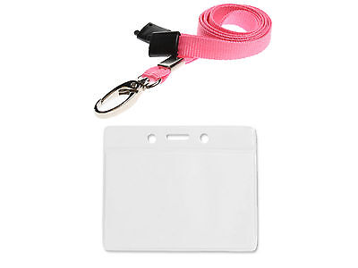 ID Badge Card Holder Pocket Pouch Wallet And Neck Strap Lanyard For Photo Cards • 2.29£