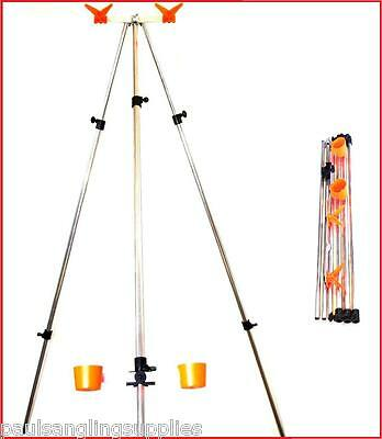 £31.70 • Buy Parker 2 Rod Travel Tripod 28 Inch Up To 6ft Take Apart Sea Fishing Beach Rest