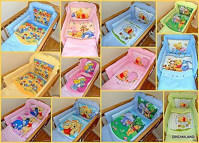 Official Winnie The Pooh & Smurfs SWINGING/ROCKING CRIB Bedding 6 Pieces. NEW!!! • 42.99£
