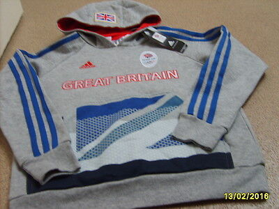 Official Adidas Olympics LONDON 2012 Junior's Team GB Hoodie, Size: 11/12 Years • 24.99£