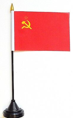 USSR Soviet Union Russia Polyester Table Desk Flag  • 5.75£
