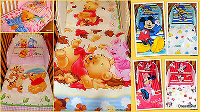Official Disney Winnie The Pooh,Cars,Minnie Mouse COT Bedding Set 2pcs NO BUMPER • 24.99£