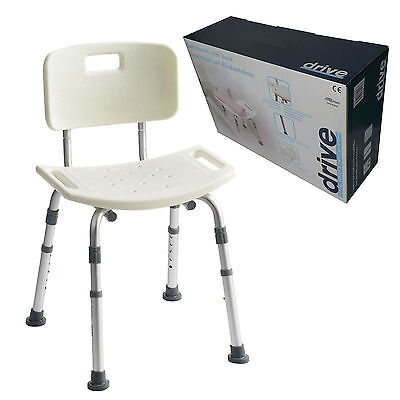 £35.99 • Buy Aluminium Bath Shower Seat Stool Chair Adjustable Height Mobility Disability Aid