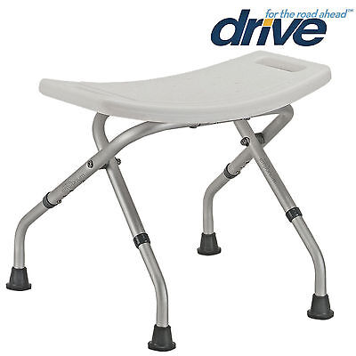 £33.50 • Buy Folding Bath Shower Seat Stool Chair Adjustable Height Mobility Disability Aid