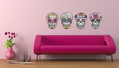 Wall Art Sticker - Full Colour - Sugar Skull, Day Of The Dead, Halloween • 14.95£