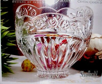 $34.99 • Buy SHANNON CRYSTAL By Godinger Floral Garden Crystal Candy Dish Bowl 5.5  Diameter