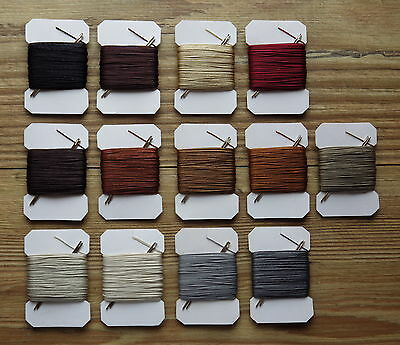 £3.49 • Buy 20m VERY STRONG  LEATHER SEWING THREAD 0,75mm THICK PLUS 2 BLUNT NEEDLES