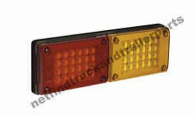 AU192.95 • Buy LED Lighting - LED Jumbo Double Combination Lamp (Red/Amber) Truck & Trailer