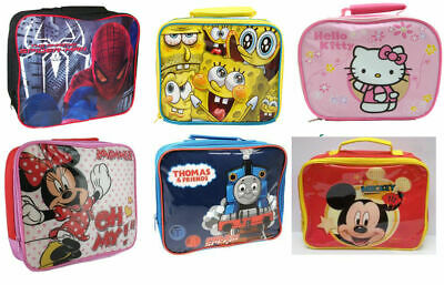 Childrens Kids Character Insulated School Picnic Travel Lunch Box Food Bags • 7.90£