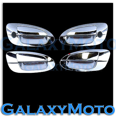 $31.95 • Buy Triple Chrome 4 Door Handle With Passenger Keyhole Cover For 02-06 Nissan Altima