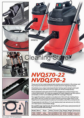 £504 • Buy Numatic NVDQ570-2 Twin Motor Dry Industrial Commercial Vacuum Cleaner Car Wash