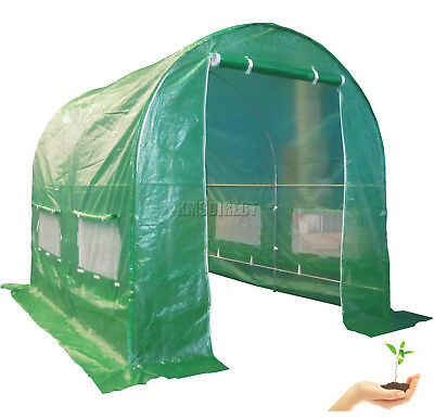 Galvanised Steel Frame Polytunnel Greenhouse Pollytunnel Poly Tunnel 2.5m X 2m • 84.99£