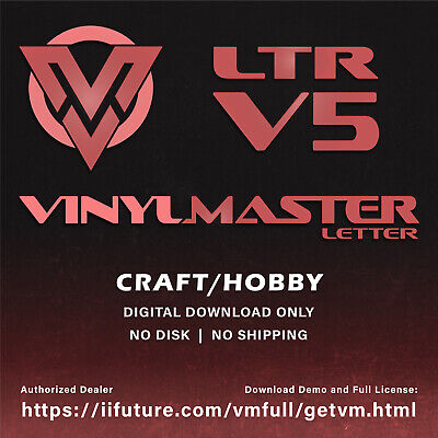 £88.99 • Buy Cutting Software For Hobby & Craft With Vinyl Sign & Die Cutters VinylMaster LTR