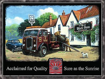 £5.18 • Buy Vintage Albion Truck Classic Lorry Wagon Pub Beer Old Car Small Metal Tin Sign
