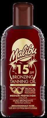 Malibu Bronzing Tanning Oil SPF 15 With Tropical Coconut Fragrance 200ml • 6.79£