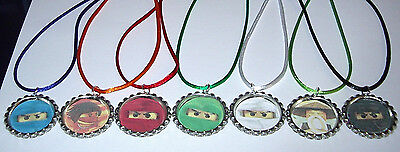 $12.99 • Buy *14 Lego Ninjago Necklace With Matching Color Cords Birthday Party Favors